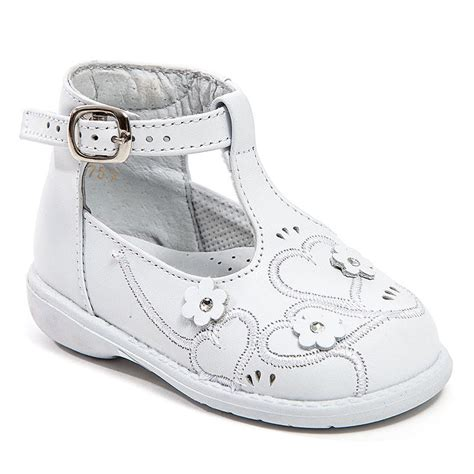 baby white leather high top shoes with buckle