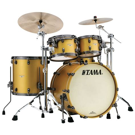 gold drum tama starclassic maple 22 quot satin aztec gold metallic