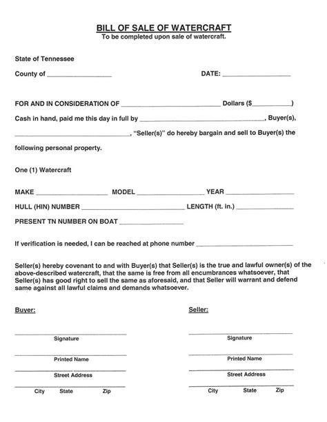 tennessee boat bill of sale pdf free tennessee watercraft bill of sale pdf word do