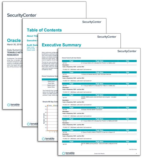 Oracle Audit Results Sc Report Template Tenable It Security Audit Report Template