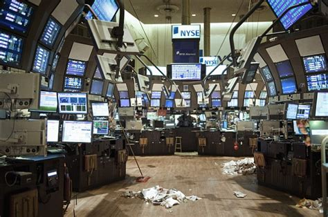 Stock Market Floor by Hurricane Update New York Stock Exchange Closes For