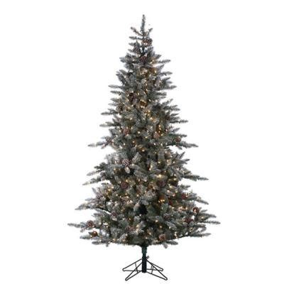 7 5 ft pre lit lightly flocked mckinley pine artificial