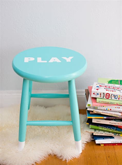 How To Paint A Wooden Stool by Hello Wonderful Easy Diy Painted Children S Stool With