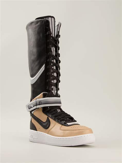 air boots lyst nike riccardo tisci air 1 leather high top