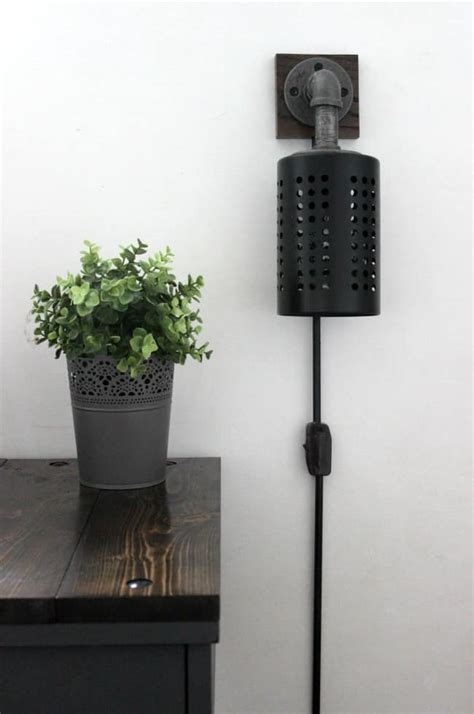 your own wall light how to your own diy industrial sconces create