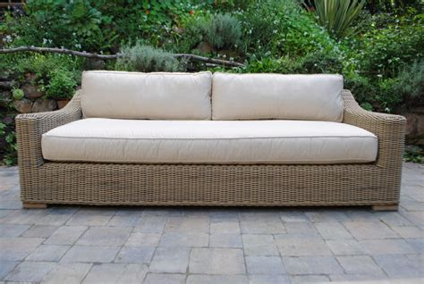Wicker Sofa by Tuscany Collection Wicker Sofa Paradise Teak