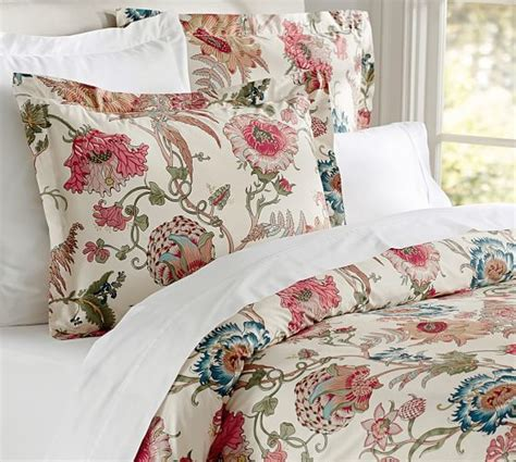 pottery barn comforters reagan floral duvet cover sham pottery barn