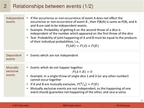 Business Statistics Notes For Mba by Mba Notes Statistics Introduction To Probability