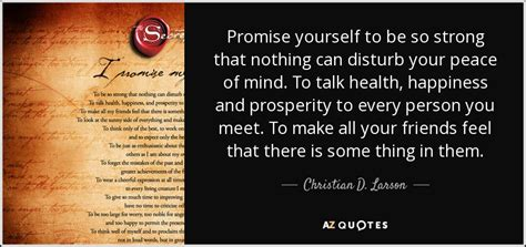 christian  larson quote promise     strong    disturb