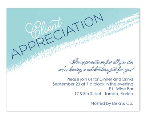 Artistic Appreciation Corporate Invitations By Invitation Consultants Ic 2125 Appreciation Dinner Invitation Template