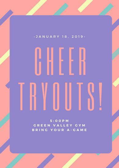 customize  cheerleading poster templates  canva