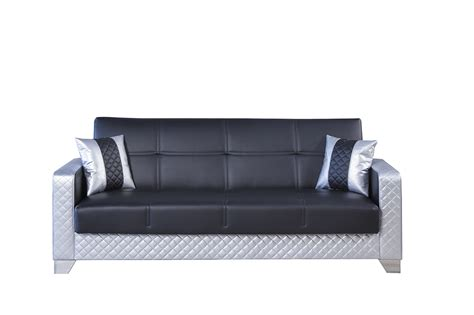 silver sofas maximum value black silver convertible sofa by casamode