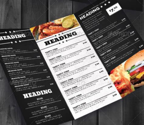 free take out menu templates carryout menu template images