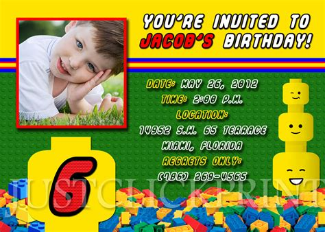 lego birthday card template lego birthday invitation
