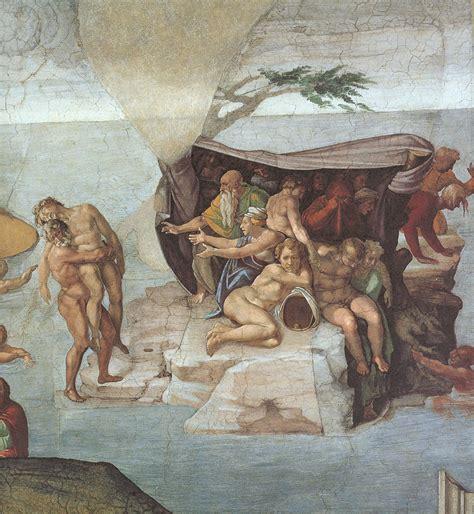 michelangelo sculptures rear view michelangelo and famous art michelangelo sistine chapel ceiling genesis noah 7 9 the