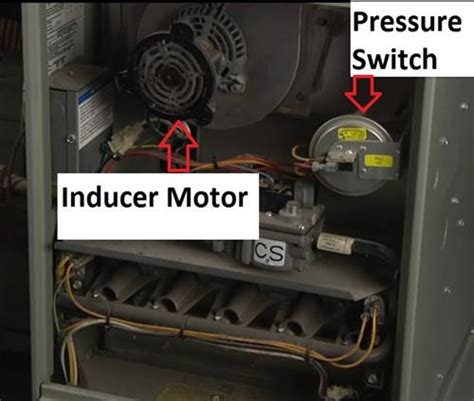 inducer fan will not start ducane furnace manual press