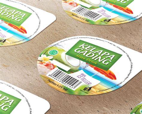 desain label minuman sribu label design desain label minuman quot kelapa gading n