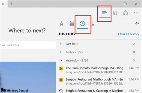 how to view and delete browser history in microsoft edge