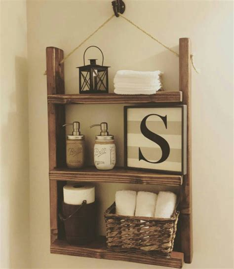rustic bathroom shelf farmhouse decor bathroom by