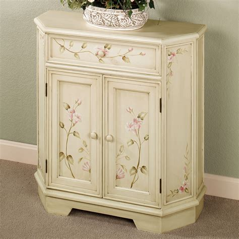 Antique Storage Cabinet Antique White Floral Storage Cabinet