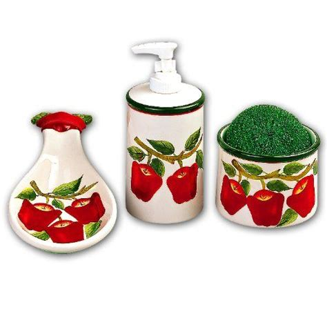 apple canisters for the kitchen apple kitchen decor accessories search kitchen dining room ceramics