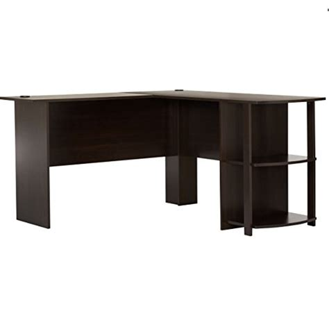 Ameriwood L Shaped Desk Ameriwood Home Dakota L Shaped Desk With Bookshelves Espresso Only 69 98 Free Shipping