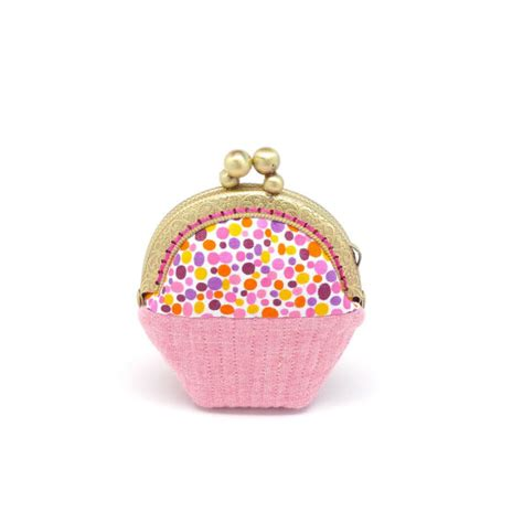cupcake purse whimsical cupcake mini coin purse by misala on etsy