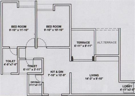 wisteria floor plan 902 sq ft 2 bhk 2t apartment for sale in dreams wisteria
