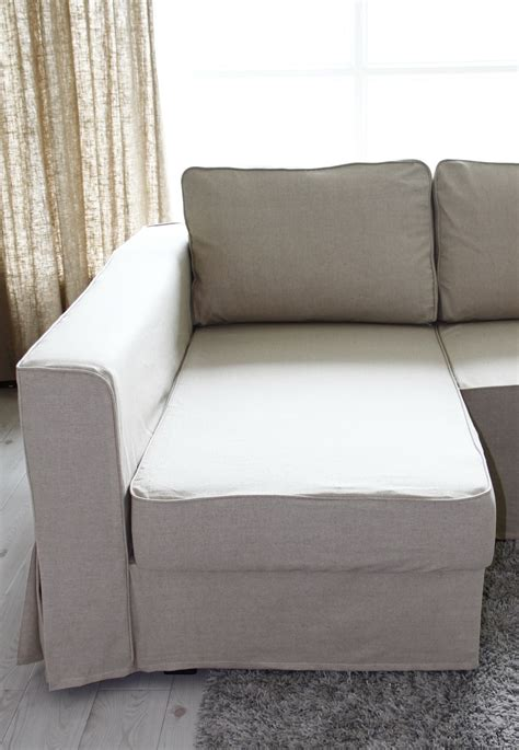 sofa box cushion covers loose fit linen manstad sofa slipcovers now available