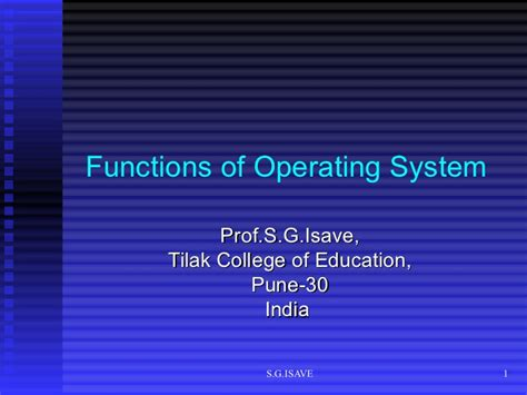 The Operating System Of Jesus functions of operating system