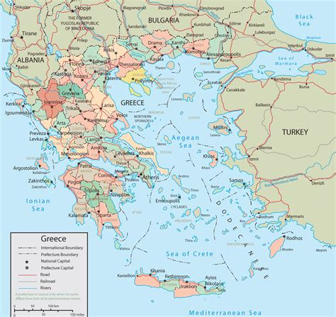 greece on map greece maps map of the islands of greece tutku tours