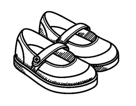 imagenes de zapatos infantiles para colorear dibujo de zapatos de ni 241 a para colorear dibujos net