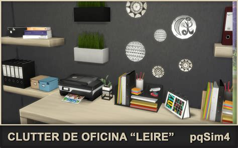 office clutter sims 4 cc clutter de oficina quot leire quot sims 4 custom content