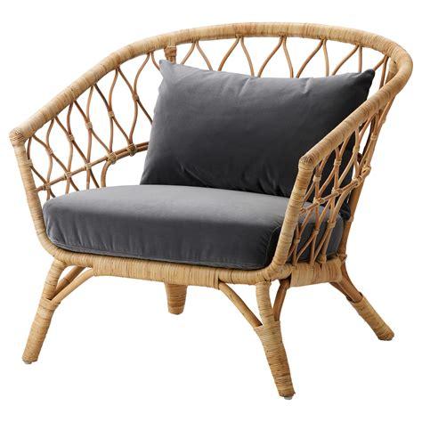 rattan sofa ikea stockholm 2017 armchair with cushion rattan sandbacka