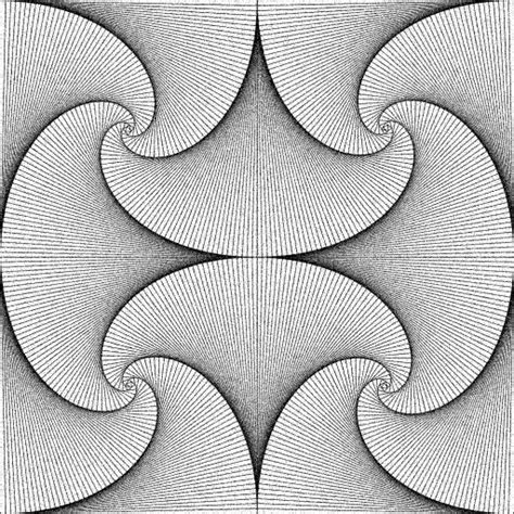 pattern design line art straight line curves