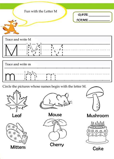 Letter M Worksheets by Pictures M Worksheet Toribeedesign