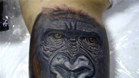 gorilla tattoo by zoran youtube