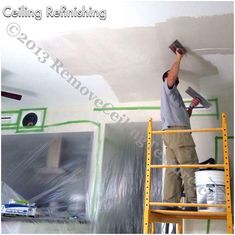 ceiling refinishing removeceilingtexture vancouver
