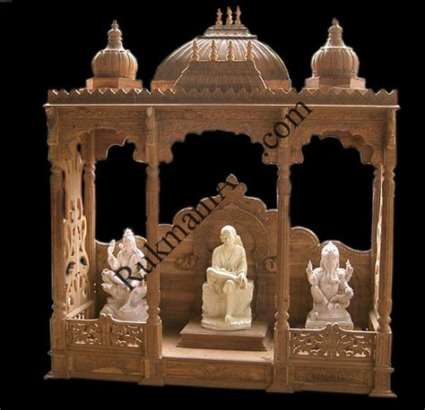 code 32 wooden carved teakwood temple mandir wooden