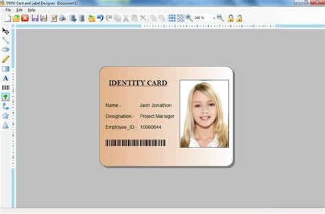 school id card machine card and label maker software student employee picture