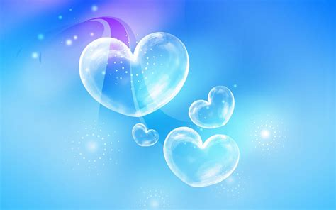 wallpaper love biru hearts full hd wallpaper and background 1920x1200 id