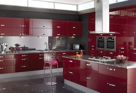 red kitchen design ideas 15 high gloss kitchen designs in bold color choices home