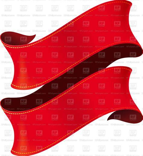 elegant curved red ribbon vector illustration  design