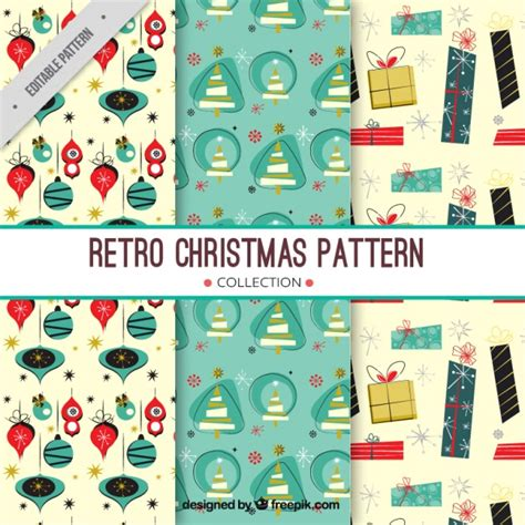 retro christmas pattern vector free christmas patterns in retro style vector free download