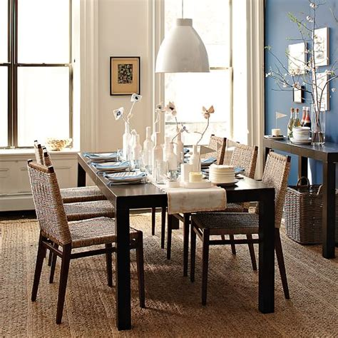 parsons dining room table parsons expandable dining table west elm
