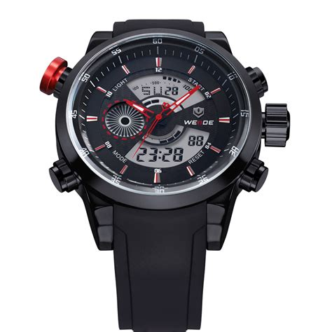 Weide Jam Tangan Sports 30m Water Resistance Wh5203 White weide japan quartz silicone sports 30m water resistance wh3401 black