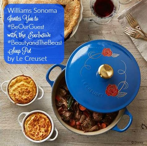 le creuset beauty and the beast soup pot williams sonoma invites you to beourguest with the