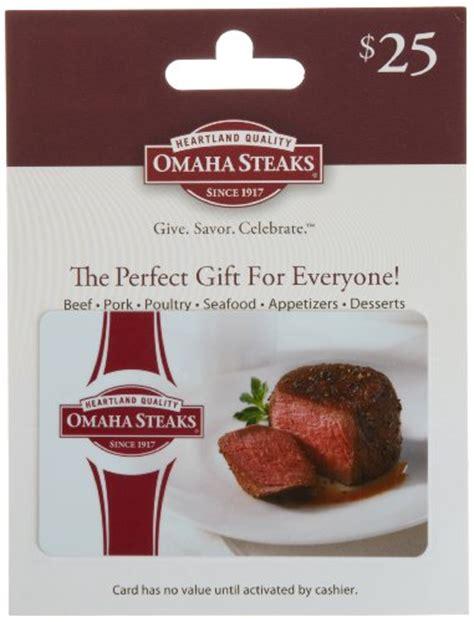 Steak Gift Card - omaha steaks gift card 25 shop giftcards