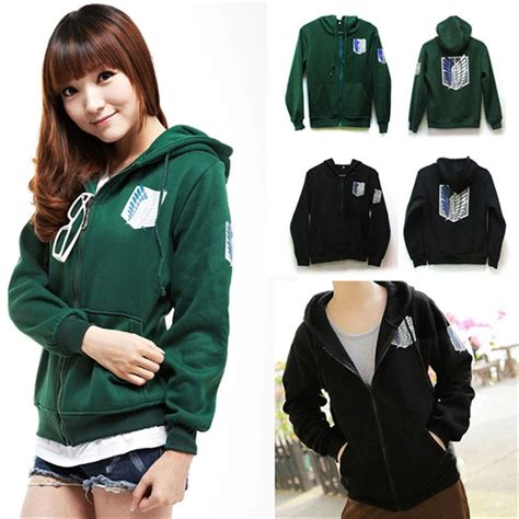Sweater Jaket Attack On Titan Snk Sporty All Edition attack on titan shingeki no kyojin survey corps cotton hoodie anime new ebay