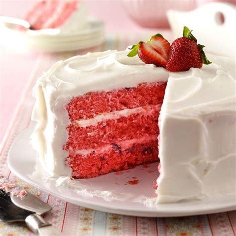 strawberry cake strawberry cake recipe taste of home